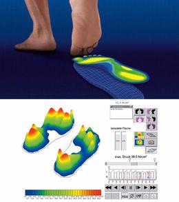 Fußdruckmessung der neuesten Technologie für die optimale Versorgung mit Einlagen nach Maß