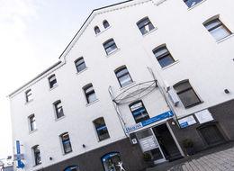 Die Fassade unseres Geschäftshauses in der Mühlgasse 4 in Herborn