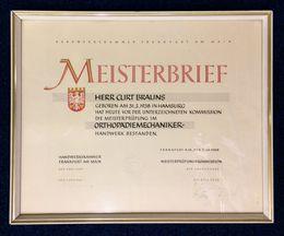 Meisterbrief Curt Brauns