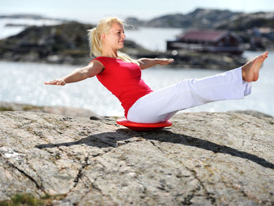 Balance-Board zur Stärkung der Muskulatur